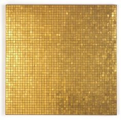 Popoxcomitl, by John Armleder. In this mosaic, artist John Armleder explores the dual nature of gold. Popoxcomitl's attr. Op Art, John Armleder, Color Of The Week, Gold Aesthetic, Ceramic Houses, Home Room Design, Gold Background, Shades Of Gold, Photoshop