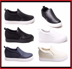 Womens SlipOn Plimsolls Shoe Trainers Pumps Skater Gym Diamante Wedges Sneakers  #Unbranded #Trainers #Casual