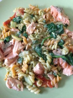 Ook de zalm tagiatellie met spinazie is een aanrader!! Recept van Rens Kroes