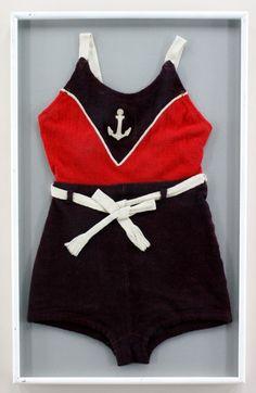 20s sailor wool Vintage Bathing Suits, Vintage Swimsuits, Nautical Outfits, Nautical Fashion, Art Deco Dress, Bathing Costumes, Fashion Advertising, Beachwear, Swimwear