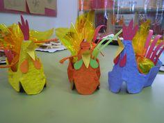 Gallines fetes amb oueres, ideals per posar-hi els ous de Pasqua