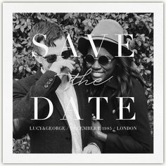 Save the date - Paperless Post Black And White Wedding Invitations, Beautiful Wedding Invitations, Custom Wedding Invitations, Save The Date Designs, Save The Date Templates, Save The Date Wording, Save The Date Cards, Save The Date Online, Pre Party