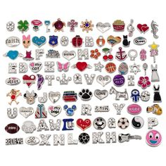 RUBYCA Wholesale 100pcs Floating Charms Lot for DIY Glass Living Memory Locket Silver Gold Color Mix 8 *** Check out this great image  : Valentine Gifts