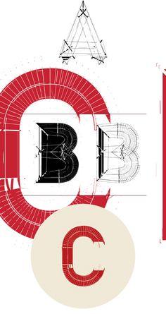 TYPE / DECONSTRUCT by atelier olschinsky , via Behance