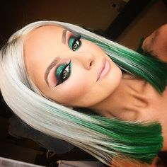 green hair tips