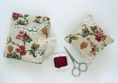 Needle Case and Pincushion in Vintage Floral Fabric by mbSTITCH, £12.00