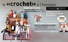 Rrose selavy » Le CROCHET à l'honneur | Stages & Expo cette semaine Stage, Expo, Couture, Crochet, Make A Character, Boss, Tricot, Crochet Crop Top, Chrochet