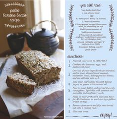 Paleo Banana Bread - A guilt-free treat | Move Nourish Believe