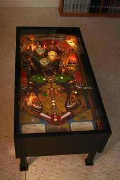 Pinball Coffee Table ~ OMG! He would love to have this! LOL!