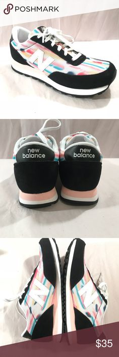 New balance SZ10 multi color Athletic Shoes New balance Women's SZ10 multi color Athletic Shoes Exercise Running NB 501BWC  Great shoes for multiple occasions  Only worn once!!   Black, pink white multi colored throughout-remember to review all photo's before purchasing!   Please review all photo's before purchasing!  All questions are welcome! New Balance Shoes Athletic Shoes