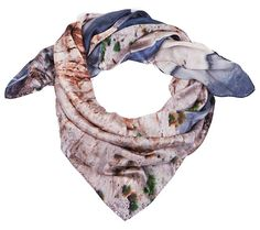"""Good & Co AW13 silk scarf - """"The Long Way"""" - 90x90cm - wrapped"""