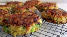 Garlic & Cheese Quinoa Patties.