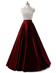 Himoda Women's Long Beading Open Back Prom Dresses Halter Sequined Evening Gowns Royal Blue Cute Formal Dresses, Banquet Dresses, Open Back Prom Dresses, Beautiful Prom Dresses, Mermaid Prom Dresses, Ball Dresses, Pretty Dresses, Ball Gowns, Formal Prom