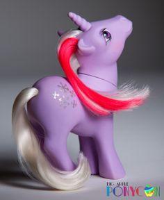 My Little Pony G1 Snowflake (Yeahhh!) See her at Big Apple Ponycon 2014! www.bigappleponycon.com