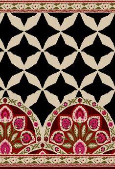 Border Pattern, Border Design, Pattern Art, Textile Prints, Textile Design, Textiles, Paisley Drawing, Paisley Embroidery, Surface Pattern Design