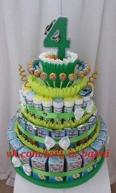 Cakes of children, sweets, juices, Barney.- Cake of children candy juices Barney. Mosk cake of children candy juices Barney. Diy Birthday, Birthday Gifts, Birthday Parties, Cake Icing Tips, Nappy Cakes, Candy Crafts, Gift Cake, Chocolate Bouquet, Paper Cake