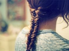 fish tail braid.