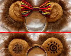 Check out our lion king mouse ears selection for the very best in unique or custom, handmade pieces from our shops. Micky Ears, Mickey Mouse Headband, Diy Disney Ears, Mickey Mouse Ears Headband, Disney Headbands, Disney Mickey Ears, Disney Diy, Ear Headbands, Disney Crafts