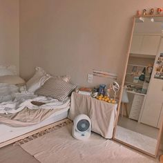 👑julieterbang👑 — nine_room. Korean Bedroom Ideas, Room Ideas Bedroom, Small Room Bedroom, Bedroom Decor, Small Modern Bedroom, Bedroom Simple, Decoration Inspiration, Room Inspiration, Minimalist Room
