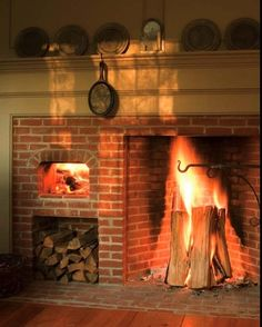Historic stone walk in fireplaces it was baked in a tin for Walk in fireplace designs