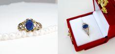 Katherine's Ring by Gweyeni on DeviantArt Vampire Diaries Rings, Vampire Diaries The Originals, Daylight Ring, Katherine Pierce, Lapis Lazuli, Sapphire, Engagement Rings, Palomino, Vintage Stuff
