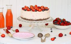 Frozen Jordgubbscheesecake på Kladdkakebotten