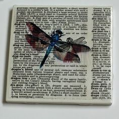 Dictionary Art Coasters – Vintage.  Mod-podge. Vintage and mod-podge on coasters.  Double score!  These coasters are fabulous!  This is another cheap project.  Tile squares, old dictionary, mod-podge and vintage prints.