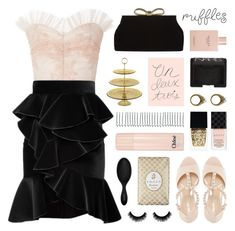 """""""what a frill: ruffles"""" by jesuisunlapin ❤ liked on Polyvore featuring Gucci, Rifle Paper Co, Ted Baker, Rodarte, Balmain, NARS Cosmetics, Witchery, Dune, BOBBY and Tocca"""