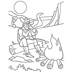 Simple Halloween Coloring Pages Printables Cowboy