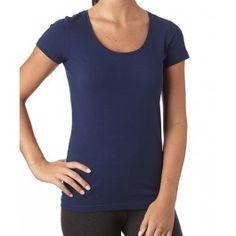 PACT : Women's Navy Short Sleeve Scoop Neck Tee Organic