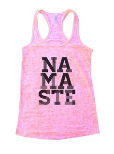 Namaste Burnout Tank Top By Funny Threadz