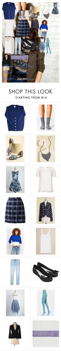 Spencer Hastings Style! Spring Outfit Inspiration by oroartye-1 on Polyvore featuring Closet London, Ryu, Urban Outfitters, Cooperative, Great Plains, Emily and Fin, Abercrombie & Fitch, YMI, Lands' End and Melissa