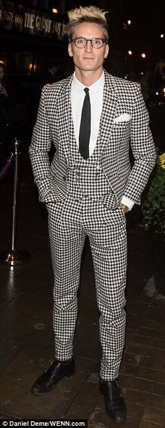 New do: Looking dapper as always in one of Joshua Kane's three piece suits, Proudlock look...