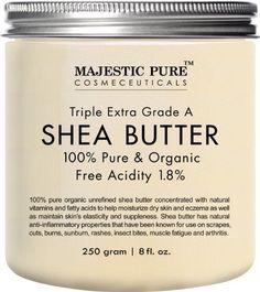 Majestic Pure Shea Butter, Manteca De Karité Se puede utilizar como una base en productos de cuidado de la piel, debido a sus propiedades anti inflamatoria y curación.