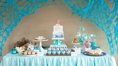 Una fiesta inspirada en sirenas...  A party inspired by sirens