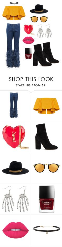 """""""groov"""" by natalieordnz on Polyvore featuring Michael Kors, Yves Saint Laurent, Valentino, Janessa Leone, Linda Farrow, Lime Crime and Carbon & Hyde"""