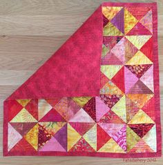 Broken Dishes Quilt - Backing and Binding Batik Baby Girl Quilts, Girls Quilts, Kid Quilts, Quilting Projects, Quilting Ideas, Cat Mat, Batik Quilts, Easy Quilts, Mug Rugs