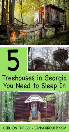 People love sleeping in treehouses - perhaps we like to relive our carefree childhood days. Here are 5 places in Georgia where you can sleep in a treehouse. Places To Travel, Places To See, Travel Destinations, Hiking Places, Vacation Places, Italy Vacation, Vacation Ideas, Unique Hotels, Best Hotels