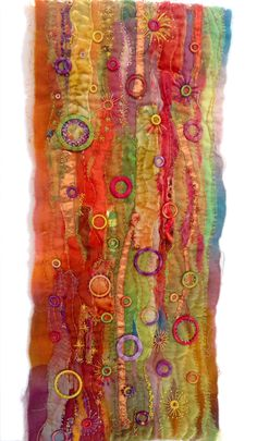 Customers Gallery : Stef Francis, World of Threads & Fabrics Machine Embroidery Applique, Ribbon Embroidery, Embroidery Art, Textile Fiber Art, Textile Artists, Art Alevel, Creative Textiles, Quilt Modernen, Creative Embroidery