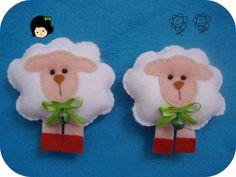 lembrancinha bichinhos ovelhinha feltro