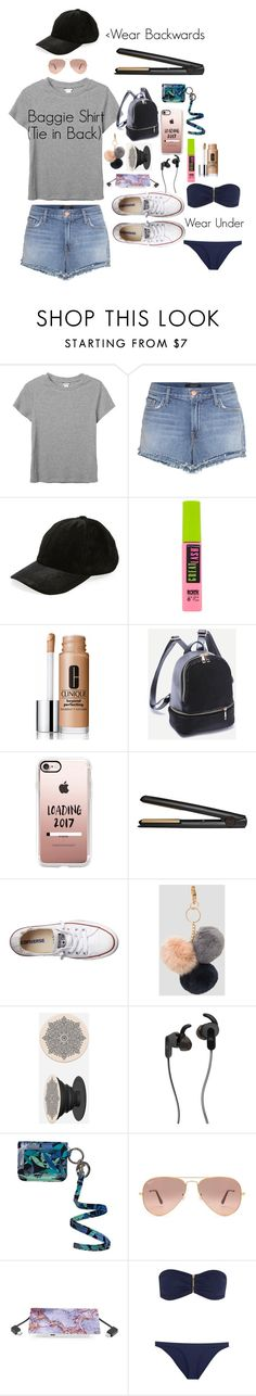 """Summer/ Spring Outfit"" by thegirlslee on Polyvore featuring Monki, J Brand, Berry, Maybelline, Clinique, Casetify, GHD, Converse, Ashley Stewart and JBL"