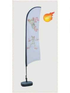 Flying banner FB04   1. For Indoor or outdoor use.   2. Aluminum pole, it is durable.   3. Unique wind resistant design allows the graphic rotate in the wind.   4. Excellent Heat-transfer and sublimation printing is available supply.   5. Different bases and sizes for choosing.   6. Oxford carry bag is included,it is portable. Vinyl Banner Printing, Vinyl Banners, Teardrop Banner, Flying Banner, Mesh Banner, Carry Bag, Heat Transfer, Craft Fairs