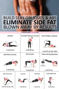 Best Exercise to Eliminate Side Fat and Build Sexy Obliques & Abs! Youll be Blown Away b - Fitness Plans - Ideas of Fitness Plans - Exercise Abs workout Strength training workout Fitness Workouts, Side Workouts, Side Fat Workout, Fitness Workout For Women, Strength Training Workouts, Sport Fitness, At Home Workout Plan, Health Fitness, Training Plan