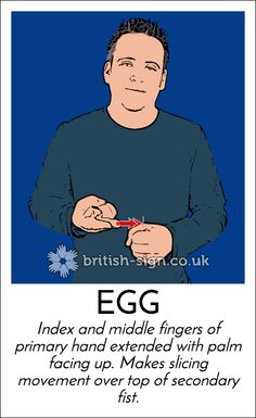 Today's #BritishSignLanguage sign is: EGG  #WorldEggDay
