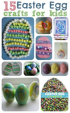 Easy Easter egg crafts for preschool