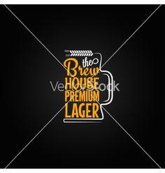 Beer mug design background vector  by Pushkarevskyy on VectorStock®