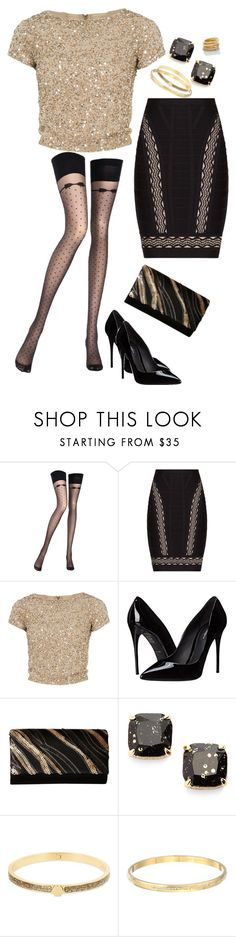 """""""Untitled #211"""" by amea412 ❤ liked on Polyvore featuring Chantal Thomass, Hervé Léger, Alice + Olivia, Dolce&Gabbana, Jessica McClintock and Kate Spade"""