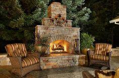 backyard fireplace designs | Outdoor Fireplace 1