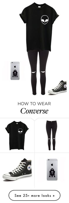 """Untitled #1017"" by laylahnisoutfits on Polyvore featuring Glamorous and Converse"