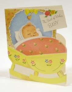 """vintage baby card 
